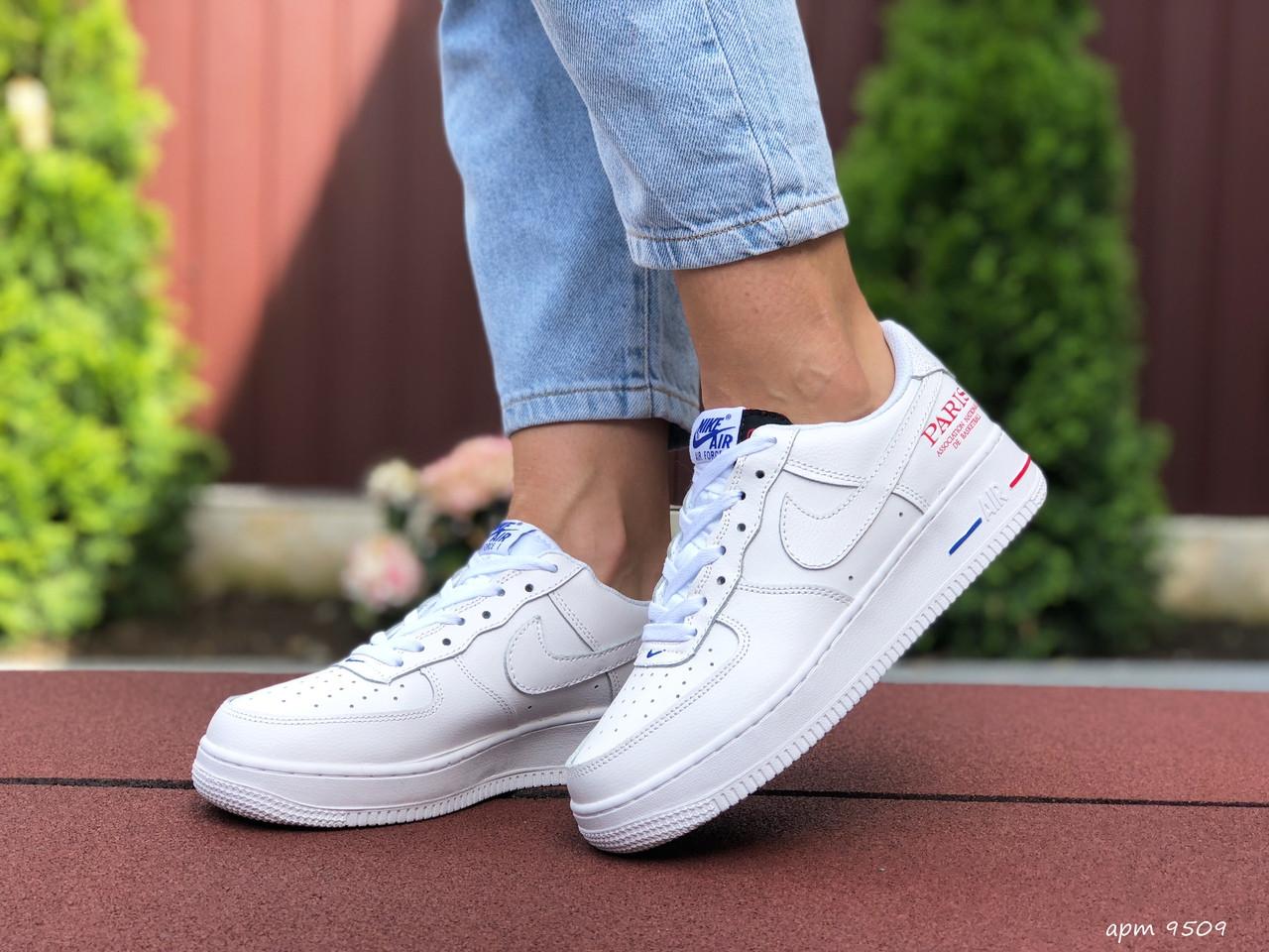 Женские кроссовки Nike Air Force 1 Paris ,белые