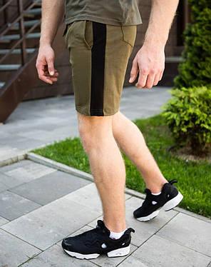 """Чоловічі шорти """"Lapsha"""" кольору хакі, фото 2"""