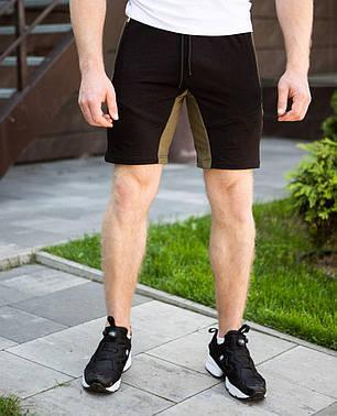 "Мужские шорты ""Topolinyy pukh"" черного цвета с хаки, фото 2"
