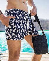 Шорти чоловічі купальні swimming shorts Pool day Ananas White сині, фото 3