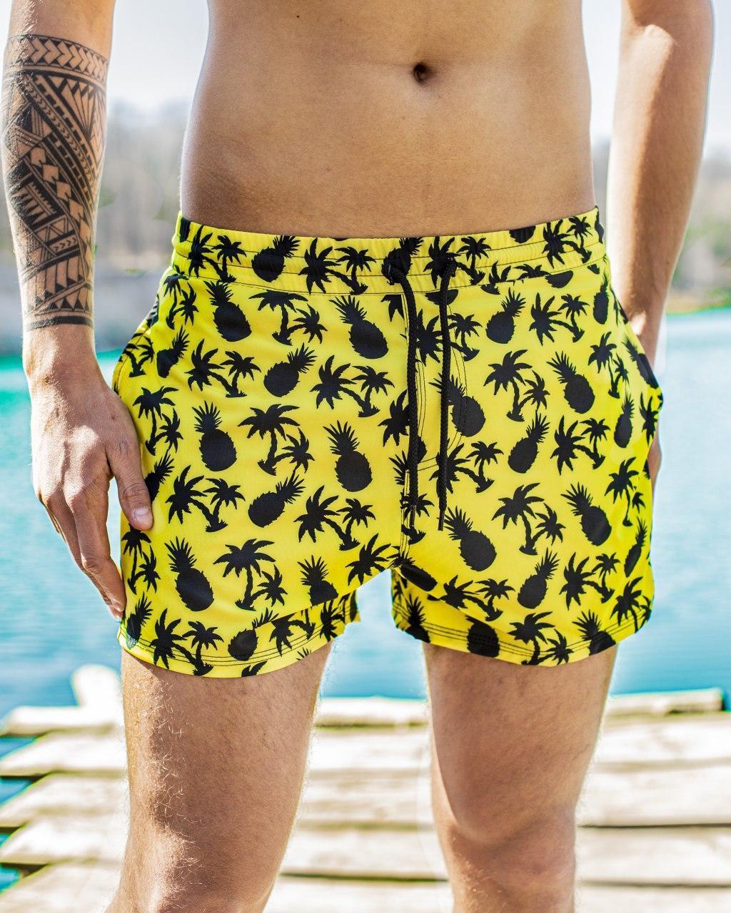 Шорти чоловічі купальні swimming shorts Pool day Ananas жовті