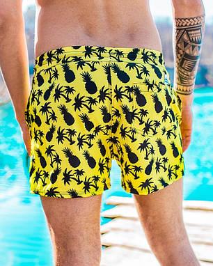Шорти чоловічі купальні swimming shorts Pool day Ananas жовті, фото 2