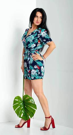 Женский стильный комбинезон из коттон-вискозы, фото 2