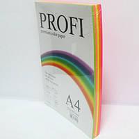 Набор цветной бумаги PROFI А4/80г 5цв.х50л Cyber 82О (неонов)