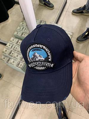 Кепка темно синего цвета Dsquared|Бейсболка кепка Дисквайред мужская женская рисунок горы