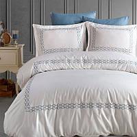 Комплект белья сатин с вышивкой Dantela Vita MISRA BLUE, фото 1