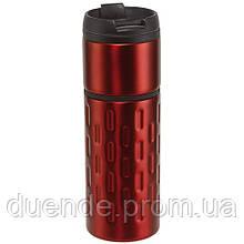 Термокружка с двойными стенками 400 мл - su 9030421 Красный