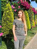 Женский летний спортивный костюм (Турция); разм С,М,Л,ХЛ, фото 4