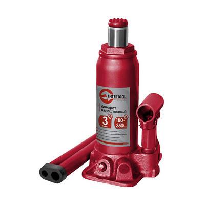 Домкрат гидравлический бутылочный 3т INTERTOOL GT0022
