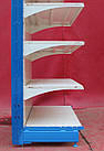 Односторонній (пристінний) стелаж «Колумб» 200х132 див., (Україна), на 6 полиць, Б/в, фото 7