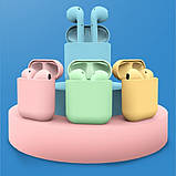 Беспроводные наушники  In Pods 12 Macaron Зелёные в стиле Apple AirPods сенсорные с кейсом, фото 7