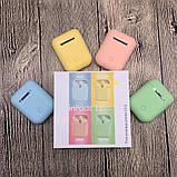 Беспроводные наушники  In Pods 12 Macaron Зелёные в стиле Apple AirPods сенсорные с кейсом, фото 8
