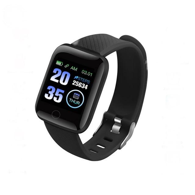 Фитнес браслет  Smart Band ID 116  Чёрный Фитнес трекер Часы