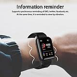 Фитнес браслет  Smart Band ID 116  Чёрный Фитнес трекер Часы, фото 3