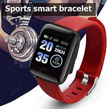 Фитнес браслет  Smart Band ID 116   Красный Фитнес трекер Часы