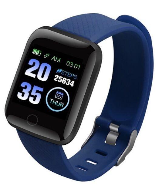 Фитнес браслет  Smart Band ID 116 Синий Фитнес трекер Часы