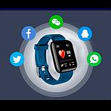 Фитнес браслет  Smart Band ID 116 Синий Фитнес трекер Часы, фото 4