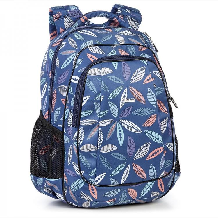 Рюкзак школьный для девочки синий 540