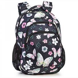 Рюкзак школьный для девочки черный 542
