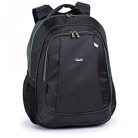 Шкільний рюкзак з щільною спинкою чорний 516