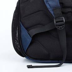 Школьный рюкзак с плотной спинкой синий 518, фото 2