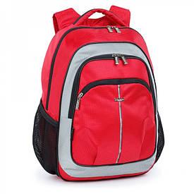Шкільний рюкзак з щільною спинкою червоний 521