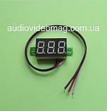 Вольтметр DC 0-30V для постоянного тока, цвет цифр - зеленый, фото 2