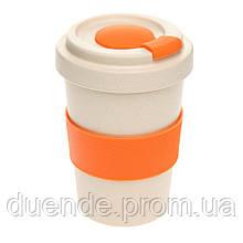 Чашка для путешествия, бамбуковое волокно и PP, объем 500 мл / su 394638