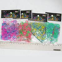 Резинки для плетения, 200шт., двухцветные, 8цв., 1 крюч 1 пакет замк, OPP