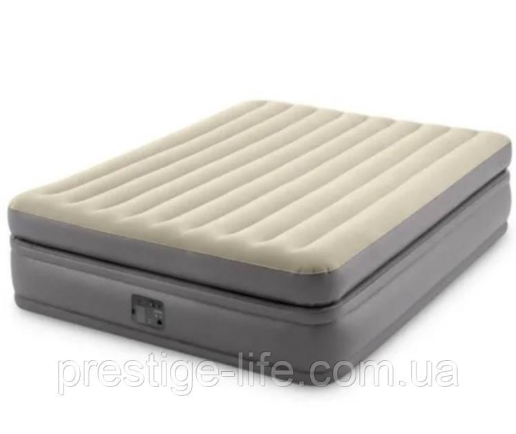 Надувная кровать со встроенным електронасосом Intex 64164 (203*152*51 см)