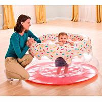 """Детский надувной игровой центр """"Пончик"""" Intex 48476 (127-61 см)"""