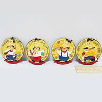 """Сувенир керамический магнит """"Казаки с едой"""", mix4"""