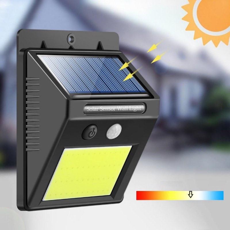 Зовнішній світильник з датчиком руху на сонячній зарядці, 48 LED Solar, hm