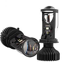 Комплект светодиодных линз HeadLight Y6D BI-LED H4 25/35W mini