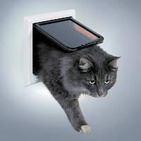 Trixie (Трикси) 4-Way Cat Flap XL Дверца для больших кошек и маленьких собак 24 × 24 см