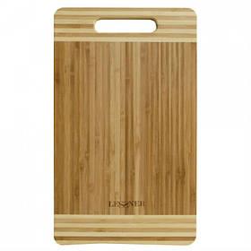 Доска кухонная бамбуковая прямоугольная 38 х 25 х 2 см Lessner 10301-38 LS