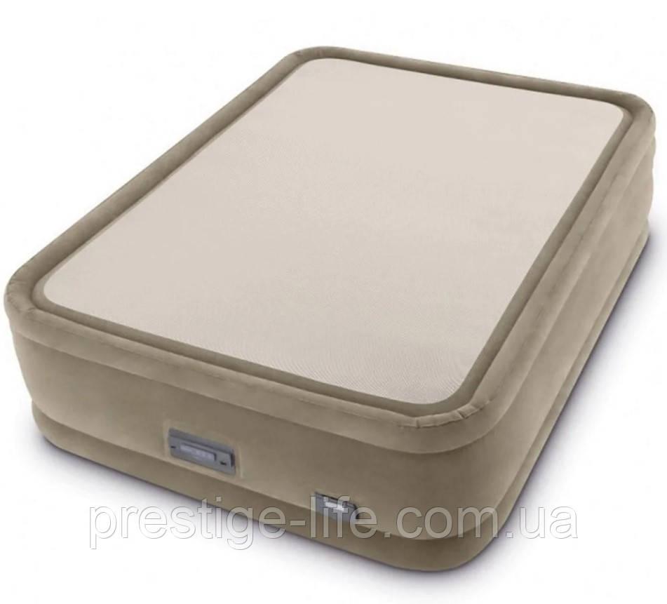 Надувная кровать со встроенным електронасосом Intex 64478 (203*152*51 см)