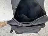 Черная тактическая сумка-рюкзак, барсетка, бананка, однолямочник. + USB выход, фото 3