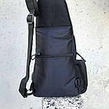 Черная тактическая сумка-рюкзак, барсетка, бананка, однолямочник. + USB выход, фото 7