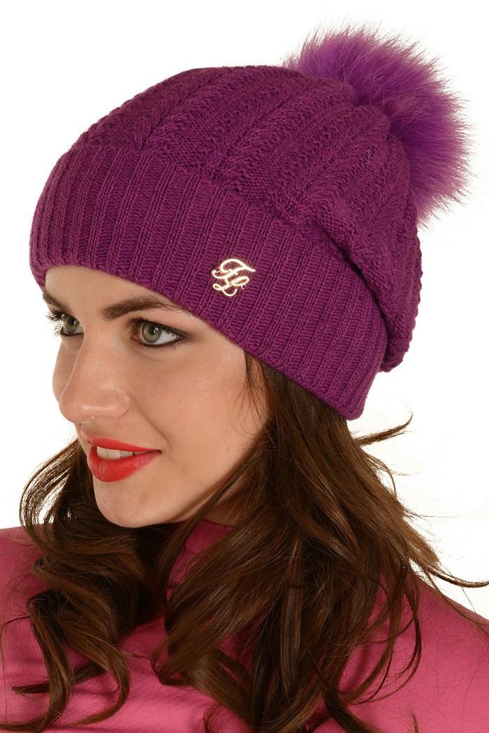купить женская вязаная шапка мишель продажа в интернет магазине