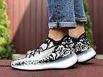 Чоловічі кросівки Adidas Yeezy Boost 380 (чорно-білі) 9513, фото 4
