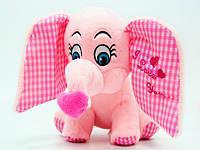 Слон с сердцем плюшевый музыкальный , мягкая игрушка