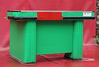 Кассовый бокс с узким накопителем 190х115 см., зеленый/правый, Б/у