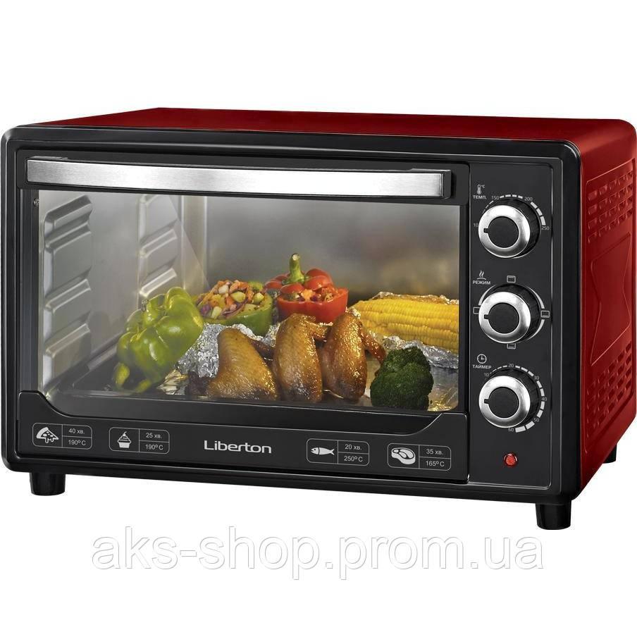 Духовка настольная Liberton LEO-380 Red объем духовки 38л