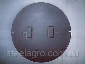 """Сковорода на мангал ф560мм s-6мм для пикника """"КОЗАЦЬКА СИЛА"""" (из диска бороны)"""
