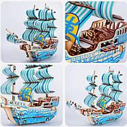 Деревянный конструктор парусное судно 3D, фото 2