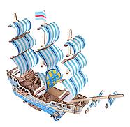Деревянный конструктор парусное судно 3D, фото 4