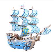 Деревянный конструктор парусное судно 3D, фото 3