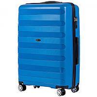 Великий пластиковий чемодан на 4 колесах Wings PP 07 L