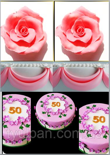 Мастика кондитерская розовая 200г